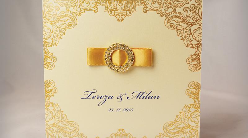 zlaté luxusní svatební oznámení
