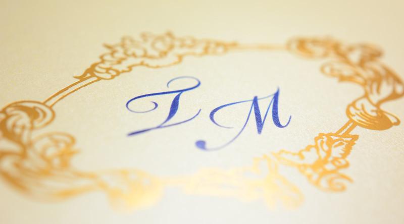 detail luxusní svatební oznámení