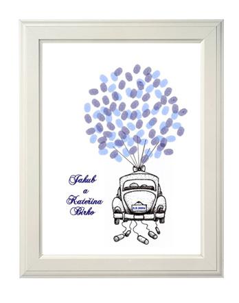 svatební auto strom