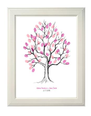 Svatební strom otisky prstů