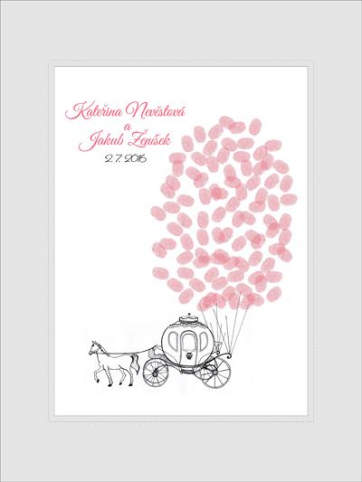 svatební strom - kočár