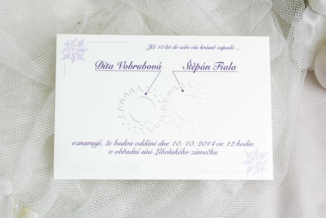 Svatební oznámení otevírací