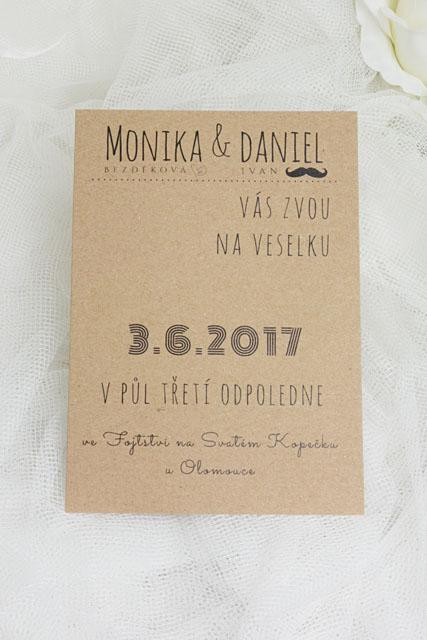 Přírodní svatební oznámení